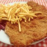 Impanata con patate fritte